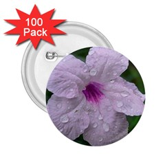 Pink Purple Flowers 2 25  Buttons (100 Pack)