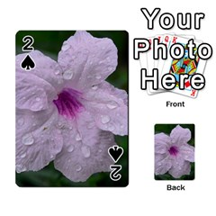 Pink Purple Flowers Playing Cards 54 Designs