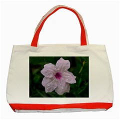 Pink Purple Flowers Classic Tote Bag (red)