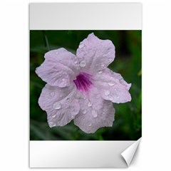 Pink Purple Flowers Canvas 12  X 18