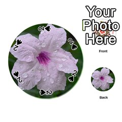 Pink Purple Flowers Playing Cards 54 (Round)