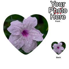 Pink Purple Flowers Multi Purpose Cards (heart)
