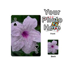 Pink Purple Flowers Playing Cards 54 (Mini)