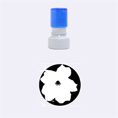 Pink Purple Flowers Rubber Round Stamps (small)