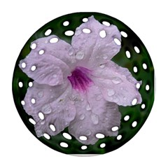 Pink Purple Flowers Ornament (round Filigree)