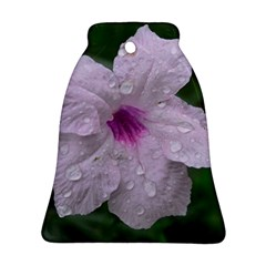 Pink Purple Flowers Bell Ornament (2 Sides)
