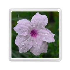 Pink Purple Flowers Memory Card Reader (Square)