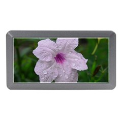 Pink Purple Flowers Memory Card Reader (Mini)