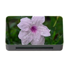 Pink Purple Flowers Memory Card Reader with CF