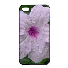 Pink Purple Flowers Apple iPhone 4/4s Seamless Case (Black)