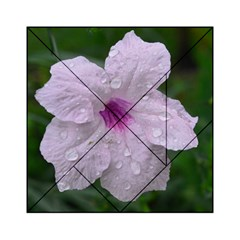 Pink Purple Flowers Acrylic Tangram Puzzle (6  x 6 )