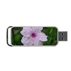 Pink Purple Flowers Portable USB Flash (One Side)