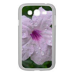 Pink Purple Flowers Samsung Galaxy Grand Duos I9082 Case (white)