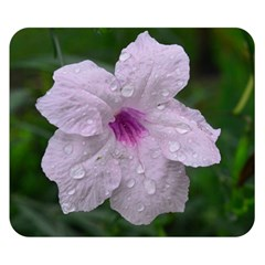 Pink Purple Flowers Double Sided Flano Blanket (small)