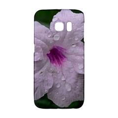 Pink Purple Flowers Galaxy S6 Edge