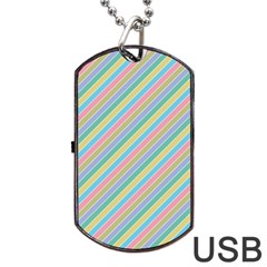 Stripes 2015 0401 Dog Tag USB Flash (Two Sides)