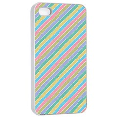 Stripes 2015 0401 Apple iPhone 4/4s Seamless Case (White)
