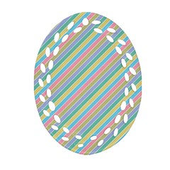 Stripes 2015 0401 Ornament (Oval Filigree)