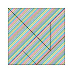 Stripes 2015 0401 Acrylic Tangram Puzzle (6  x 6 )