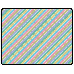 Stripes 2015 0401 Double Sided Fleece Blanket (Medium)