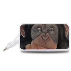 Menschen - Interesting Species! Portable Speaker (White)