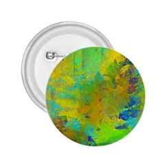 Abstract in Blue, Green, Copper, and Gold 2.25  Buttons