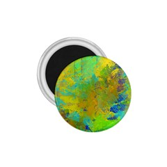 Abstract in Blue, Green, Copper, and Gold 1.75  Magnets