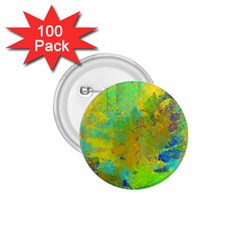 Abstract In Blue, Green, Copper, And Gold 1 75  Buttons (100 Pack)