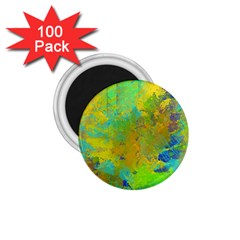Abstract in Blue, Green, Copper, and Gold 1.75  Magnets (100 pack)