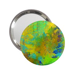 Abstract In Blue, Green, Copper, And Gold 2 25  Handbag Mirrors