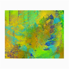Abstract in Blue, Green, Copper, and Gold Small Glasses Cloth