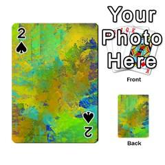 Abstract In Blue, Green, Copper, And Gold Playing Cards 54 Designs
