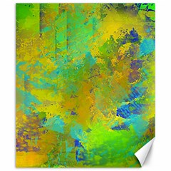 Abstract In Blue, Green, Copper, And Gold Canvas 20  X 24