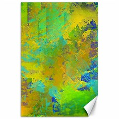 Abstract In Blue, Green, Copper, And Gold Canvas 24  X 36