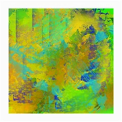 Abstract in Blue, Green, Copper, and Gold Medium Glasses Cloth
