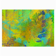 Abstract In Blue, Green, Copper, And Gold Large Glasses Cloth