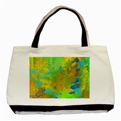 Abstract in Blue, Green, Copper, and Gold Basic Tote Bag (Two Sides)