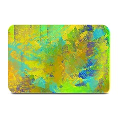 Abstract in Blue, Green, Copper, and Gold Plate Mats