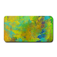 Abstract In Blue, Green, Copper, And Gold Medium Bar Mats