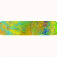 Abstract in Blue, Green, Copper, and Gold Large Bar Mats