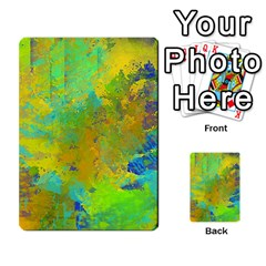 Abstract in Blue, Green, Copper, and Gold Multi-purpose Cards (Rectangle)