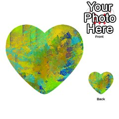 Abstract in Blue, Green, Copper, and Gold Multi-purpose Cards (Heart)