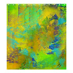 Abstract in Blue, Green, Copper, and Gold Shower Curtain 66  x 72  (Large)