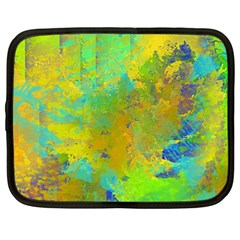 Abstract in Blue, Green, Copper, and Gold Netbook Case (XXL)