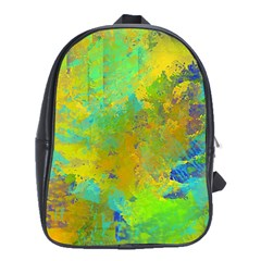 Abstract in Blue, Green, Copper, and Gold School Bags(Large)