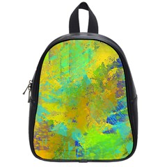Abstract In Blue, Green, Copper, And Gold School Bags (small)