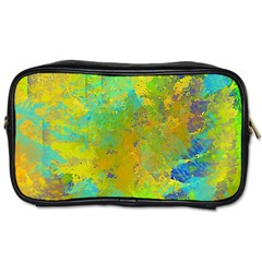 Abstract In Blue, Green, Copper, And Gold Toiletries Bags 2 Side