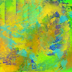 Abstract In Blue, Green, Copper, And Gold Magic Photo Cubes