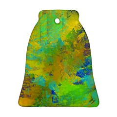 Abstract In Blue, Green, Copper, And Gold Ornament (bell)