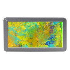 Abstract in Blue, Green, Copper, and Gold Memory Card Reader (Mini)